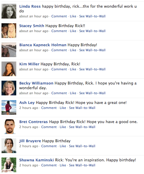 Rick Kaselj Facebook Birthday