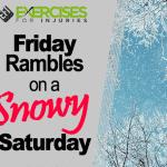 Friday Rambles on a Snowy Saturday