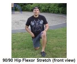 90-90 Hip Flexor Stretch front view