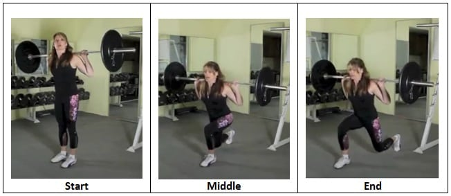 Reverse Lunge Back Squat Position Enough Already Barbell Challenge Complex