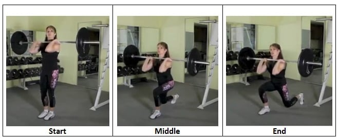 Reverse Lunge Front Squat Position Enough Already Barbell Challenge Complex