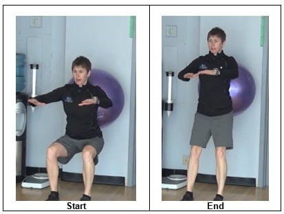 Stability Ball Bi Lateral Squat 7 Bodyweight Glute Activation Exercises