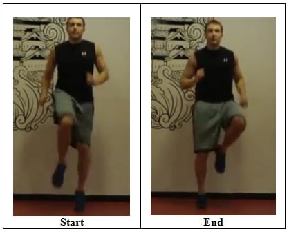 High Knees Sprinting in Place 10 Minute Total Body Workout