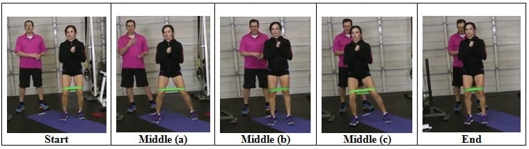 Mini Band Side Step Exercise (Right Side)