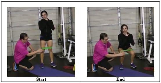 Mini Band Squat Exercise