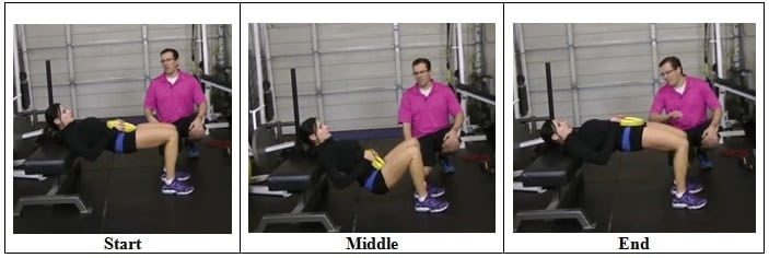 Plated Hip Bridge Exercise