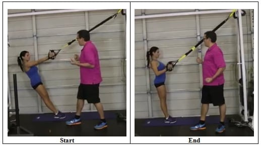 Suspension Training Rowing Exercise (correct position)