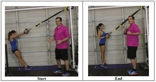 Suspension Training Rowing Exercise (wrong position)