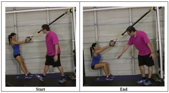 Suspension Training Squat Exercise (correct position)