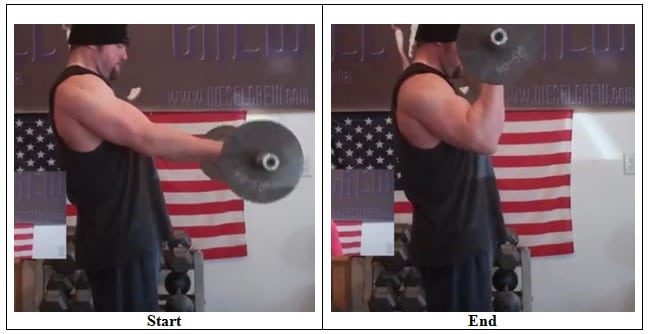 45 Degrees Reverse Curl (Side View)