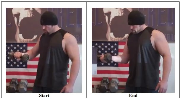 Offset Dumbbell Rotation (Front View)
