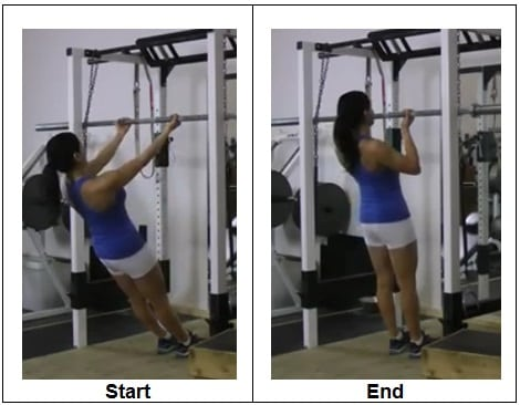 Chin Up Body Row - Inverted Bodyweight Row