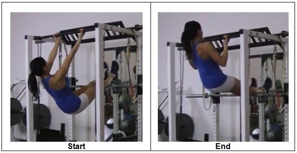 Elevated Inverted Bodyweight Row