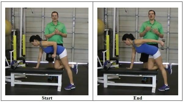 Triceps Kick Back Workout