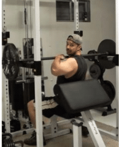 step 1 001 243x300 How to do the Perfect Power Shoulder Press