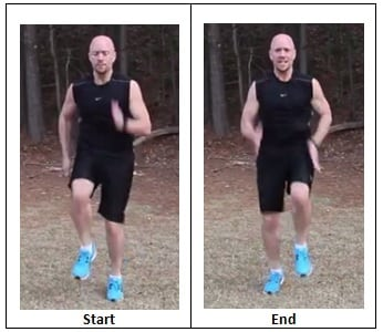 Running in Place (sprinting pace)