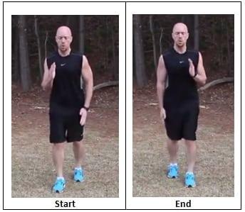 Split Shuffle (sprinting pace)