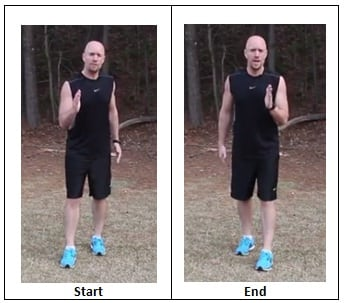 Split Shuffle (workout pace)