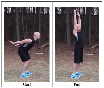 Total Body Extension (sprinting pace)