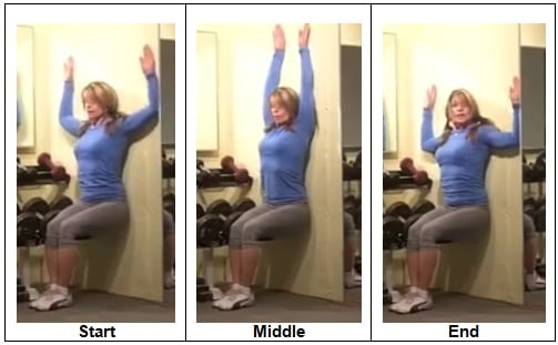 Wall Sit Stick Up Burpee Bodyweight Blitz Workout
