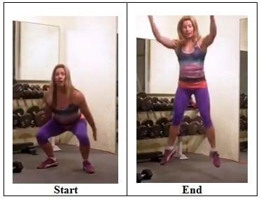 Squat Jumps 5 Exercises that Target Back Fat