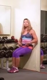 Wall Sit1 5 Exercises that Target Back Fat