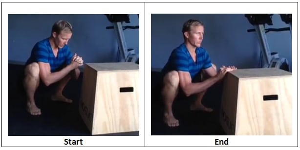 Womb Squat with support 2 Great Stretches To Do At Work