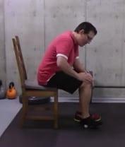 Golf Ball Stretch Focusing on the Heel