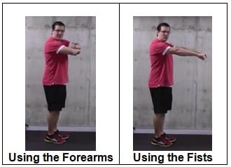 Using the Forearms or the Fists Exercises to Strengthen Your Knees If You Can't Get On the Floor