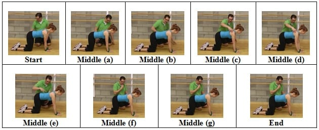 Hand Shuffle side view 3 Mini Band Floor Exercise for Shoulder Health