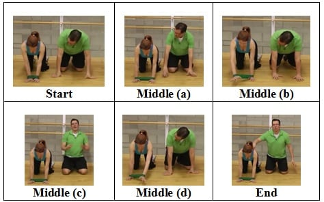 Hands Out Front front view 3 Mini Band Floor Exercise for Shoulder Health