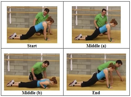 Push Up side view 3 Mini Band Floor Exercise for Shoulder Health