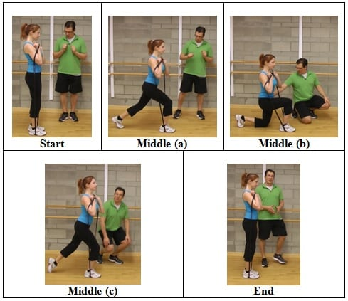 Shoulder Height Band Reverse Lunge 5 AWESOME Resistive Band Exercises You Can Do ANYWHERE
