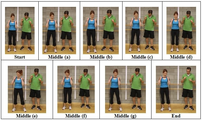 Side Shuffle with Arms Shoulder Height 5 AWESOME Resistive Band Exercises You Can Do ANYWHERE