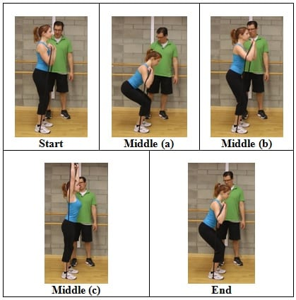 Squat into a Press side view 5 AWESOME Resistive Band Exercises You Can Do ANYWHERE