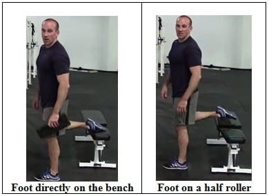 2 Ways of Setting Your Foot on the Bench
