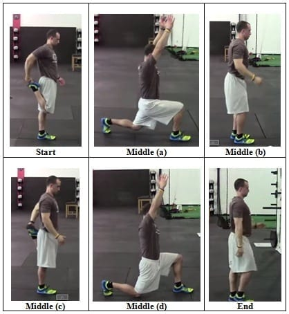 Pull-Back Butt-kick to Overhead Lunge Walk