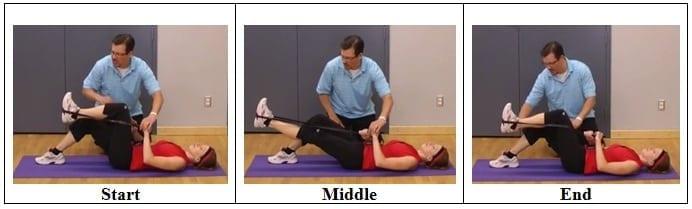 Single Leg Tubing Exercise