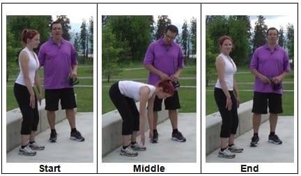 Bodyweight Deadlift focusing on Hip movement