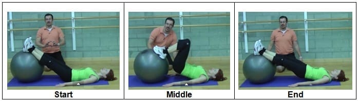 Stability Ball Hamstring Curl (Level 1)