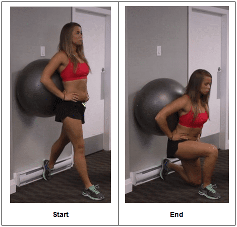 how to do the single leg stability ball wall squat