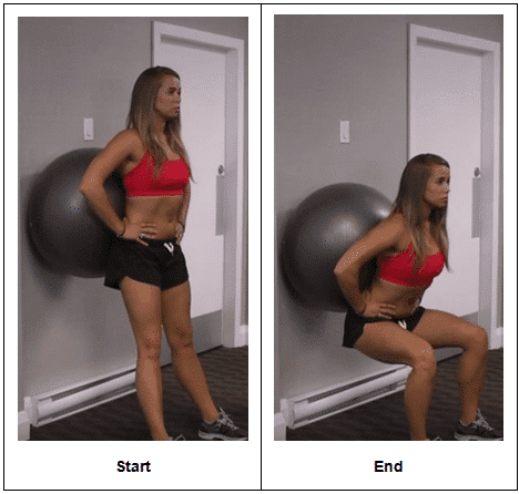 Traditional Stability Ball Wall Squat