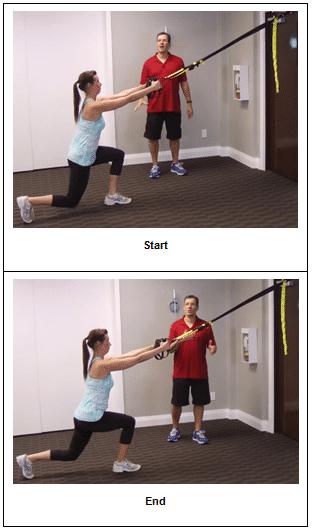 Suspension Trainer Reverse Lunge