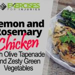 Lemon and Rosemary Chicken with Olive Tapenade and Zesty Green Vegetables